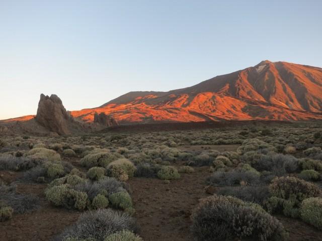 und gewaltige Eindrück am Morgen am Teide