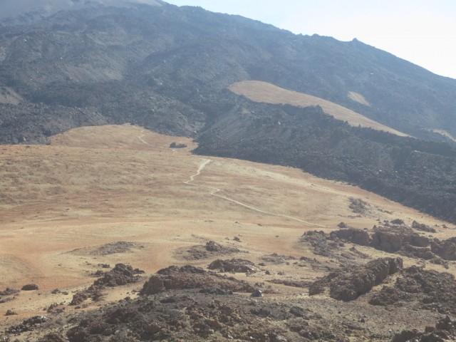 Blick vom Pico Viejo in Richtung des weiteren Aufstieges