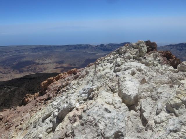 Blick nach Südosten, schwach zu erkennen Gran Canaria