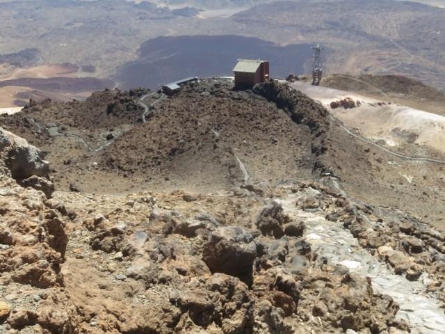 Blick vom Gipfelabstieg, Sendero No. 10