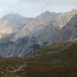 beide Praxmarerkarspitzen, Kaskarspitze und Sonntagskarspitze vom Kreuzjöchl aus