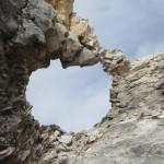 Felsenfenster am Übergang zwischen den Praxmarerkarspitzen