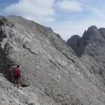 letzter Gratkopf vor dem Gipfelaufbau der Kaskarspitze