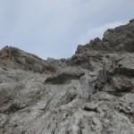 mitten in der Südwestflanke Kaskarspitze am Aufstieg zum Kaminl