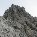 am Plateau vor dem Gipfelaufbau der Kaskarspitze