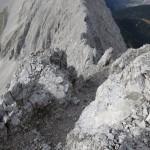 """Rinne """"brüchiger Schluf"""" so weit vom Gipfel aus einsehbar"""