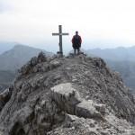 Andi auf der Kaskarspitze vom Ende der Rinne aus
