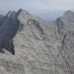 Sonntagskar- u. Bachofenspitze, dahinter Großer u. Kleiner Lafatscher, rechts Roßkopf von der Kaskarspitze aus gesehen