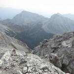 Blick von Kaskarspitze gegen Rumerspitze und Gleirschtaler Brandjochspitzen