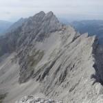 Gratverlauf Kaskarspitze zu den Praxmarerkarspitzen