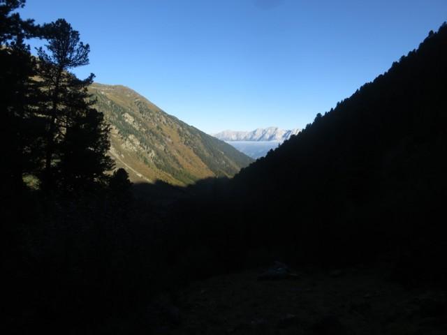 im Steilstück des Steiges zum Klausboden