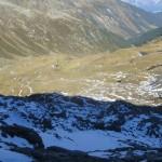 Rückblick knapp unterhalb des Gipfels der Naviser Sonnenspitze