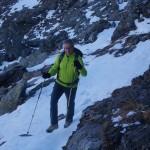 unterhalb der Querung ca. 150m unterhalb des Gipfels