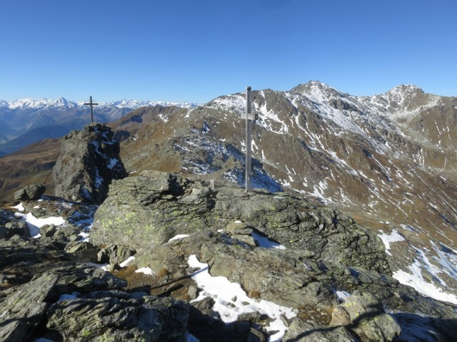 Naviser Sonnenspitze, 2.619m mit Zweitgipfelkreuz