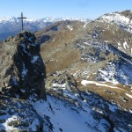 der zweite Gipfel der Naviser Sonnenspitze mit Naviser Jöchl