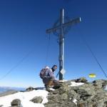 Andi am Gipfel der Grünbergspitze, 2.720m