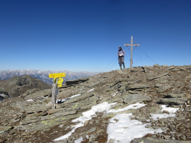 Gipfel des Rosenjoch, 2.796m