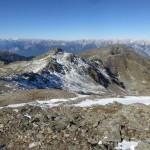 Blick vom Gipfel des Rosenjoches zur Gamslahnerspitze