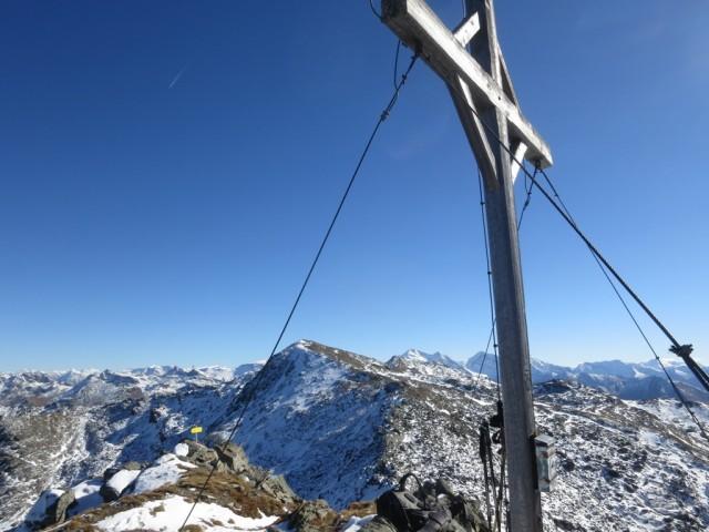 am Gipfel der Gamslahnerspitze, 2.681m