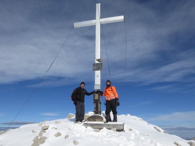 Manuel und Andi am Gipfel