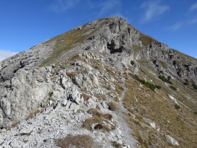 Blick zu den ersten Felsaufschwüngen am Grat zur Rappenspitze