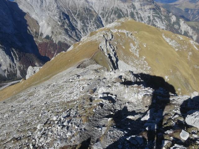 Abstieg von der Rappenspitze nach Norden zum Larchkarlkopf