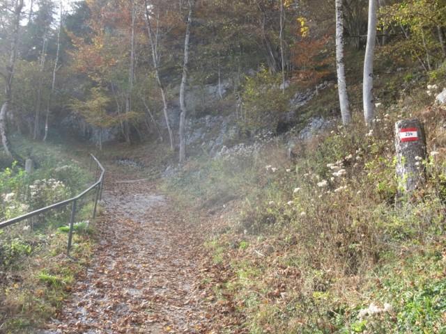 Ende des Steiges bei St. Georgenberg