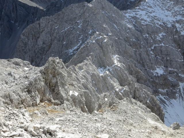 Abstieg am Verbindungsgrat zu den Stempeljochspitzen