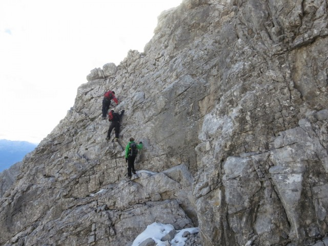 Aufstiege in leichter Kletterei