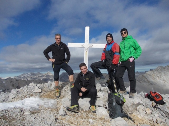am Gipfel des Rosskopf, 2.668m