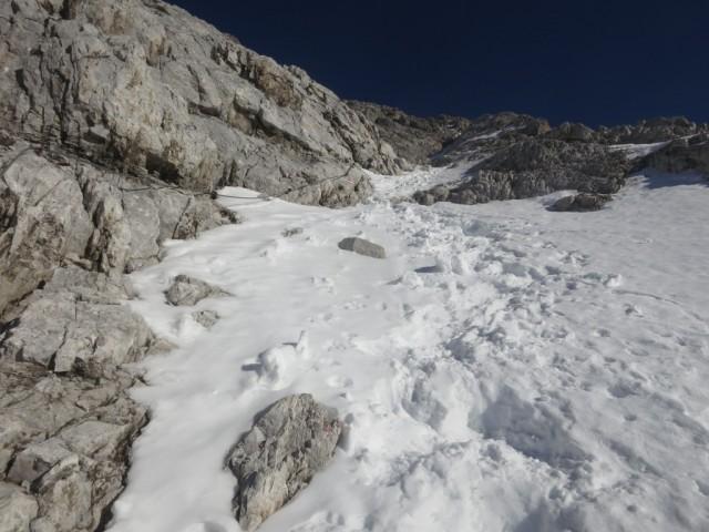 150m unterhalb des Gipfels