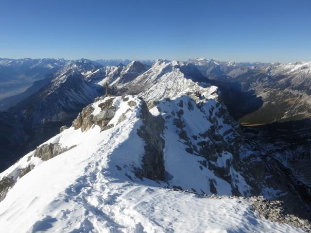 am Gipfel des Großen Bettelwurfes am 31. Dezember 2016