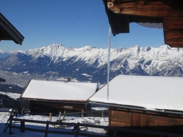 Blick von der Largozalm ins Karwendel