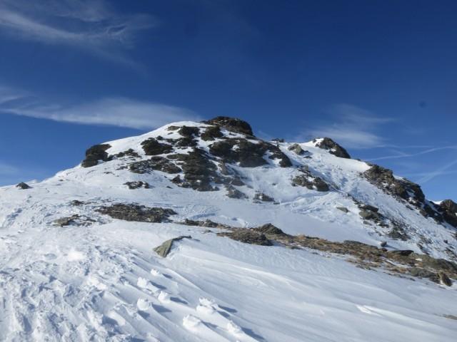 Gipfel der Grünbergspitze von der Scharte aus gesehen