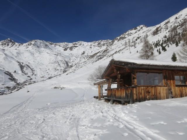 Rückblick von den Privathütten unterhalb der Grünbergalm