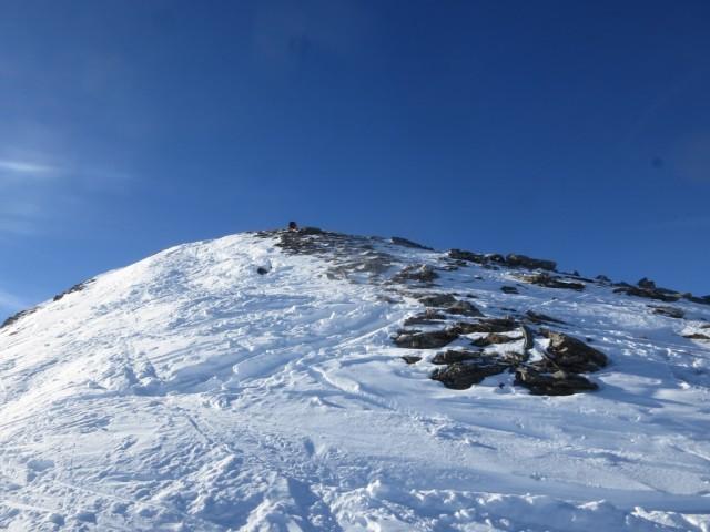 die letzten Meter zum Gipfel der Scheibenspitze