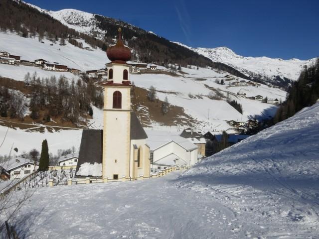 Pfarrkirche Navis - Endpunkt der Schitour