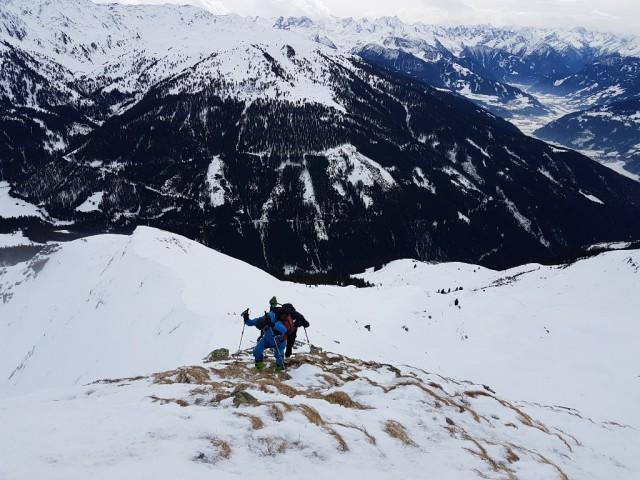 die letzten Meter zum Gipfel des Gamskopf