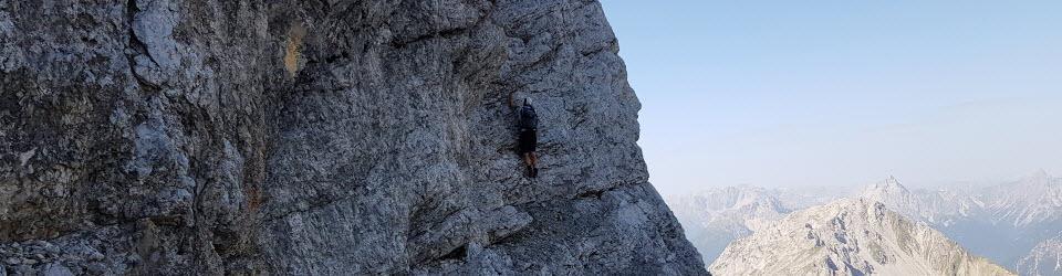 Bergsteigen hinter'm Haus